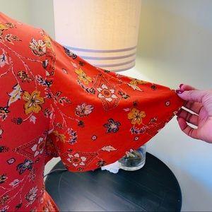 torrid Dresses - Torrid Orange Floral Midi Dress Size 0X